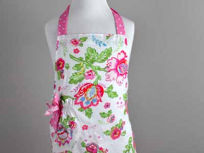 Vintage Inspired Cotton Candy Pink Kids Apron