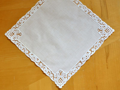 Regal German Guipure Lace Ladies Handkerchief