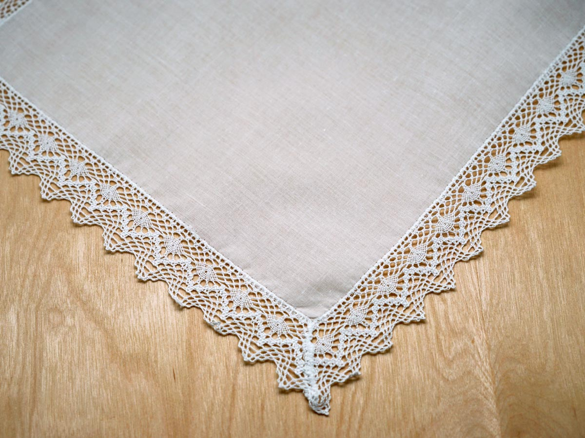 Triangle German Guipure Lace Ladies Handkerchief