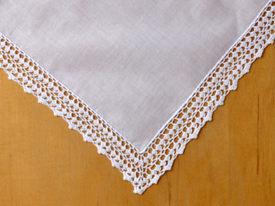Set of 3 Crochet Lace Wedding Handkerchiefs