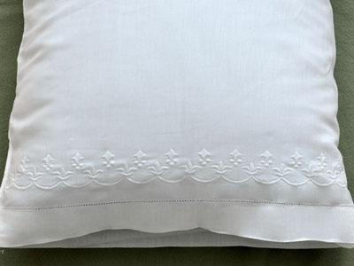 Pair of Cotton Pillowcases with Fleur De Lis