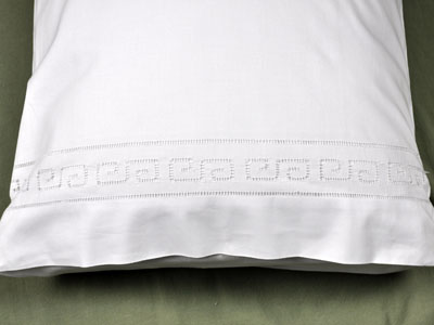 Pair of Cotton Greek Inspired Pillowcases
