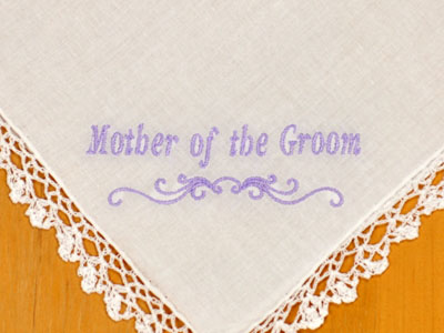 Font I - Simple Style<br>Mother of the Groom/Bride<br>With or without date available