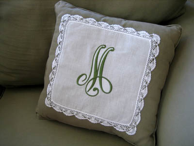 Hankie Accent Pillow