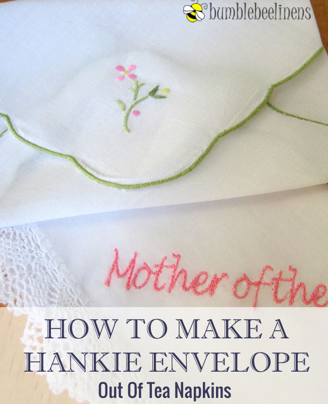 How To Label A Wedding Gift Envelope : Directions How To Make A Hankie Envelope Out of Tea Napkins