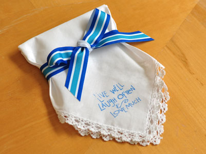 Stamped Hankie Favor
