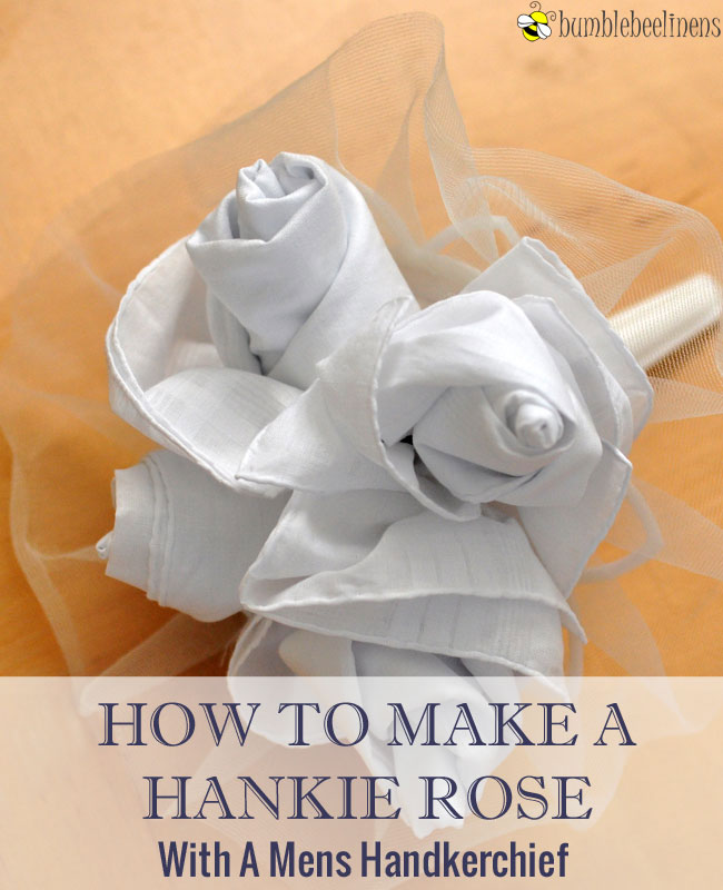 Making a Wedding Hankie Rose Bouquet