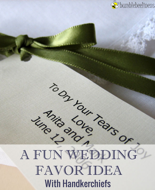 Folding and Presenting Your Wedding Handkerchief