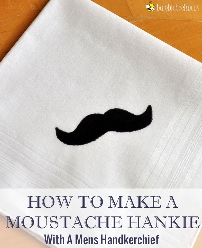 How To Make A Moustache Mens Handkerchief
