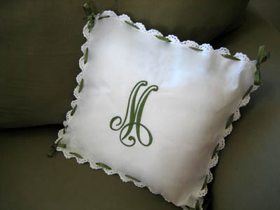 Making A No Sew Pillow From Crochet Lace Napkins