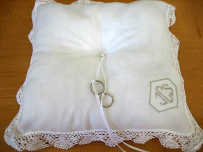 Hankie Ring Bearer Pillow