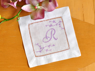 Arts and crafts with handkerchiefs and linens stenciled cocktail napkins junglespirit Images