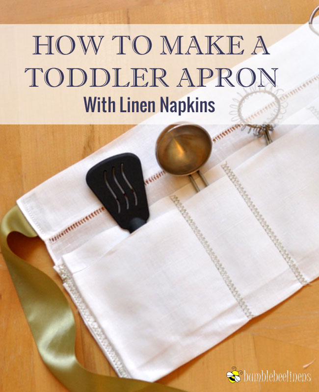 Making a Linen Towel Toddler Apron