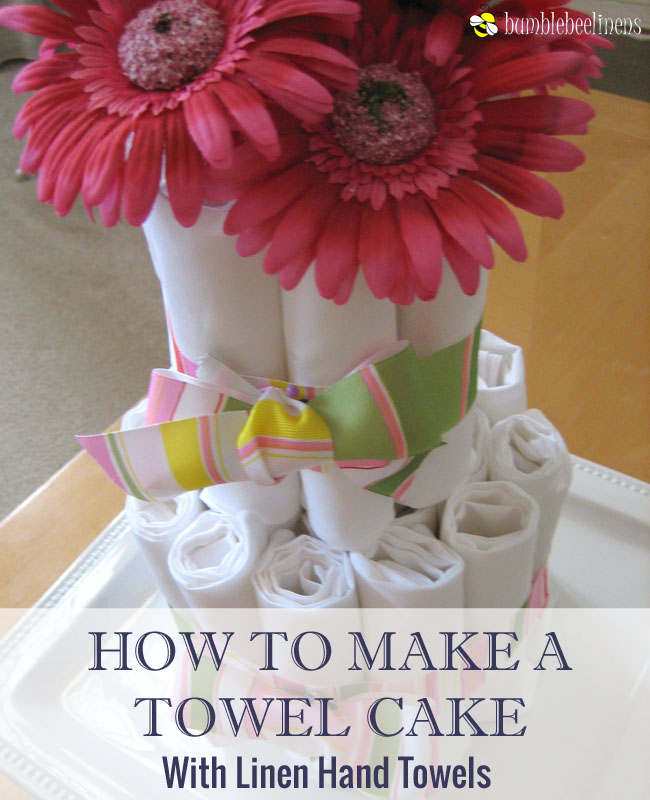 Making a Linen Towel Cake